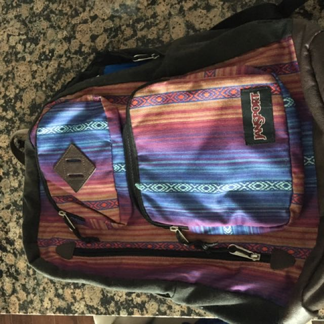 Funky Jansport Backpack w Tons of Pockets