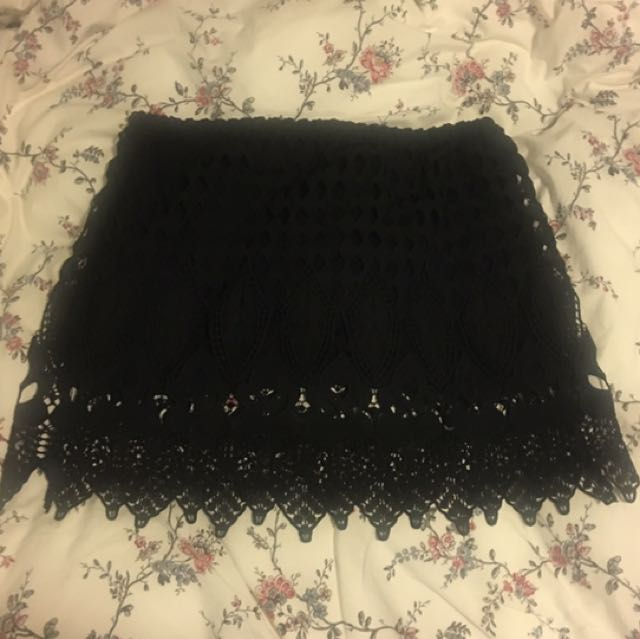 Glassons Black Lace Skirt