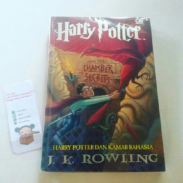 Harry Potter 2 Chamber of Secrets HARDCOVER ORI GRAMEDIA