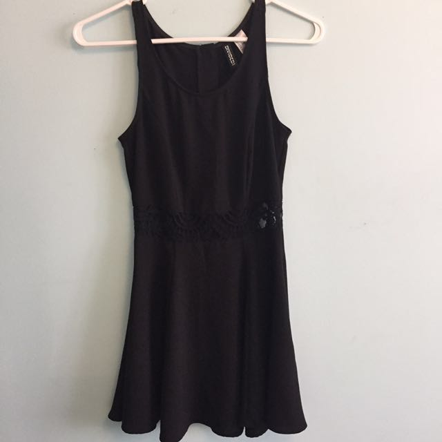 H&M black formal dress