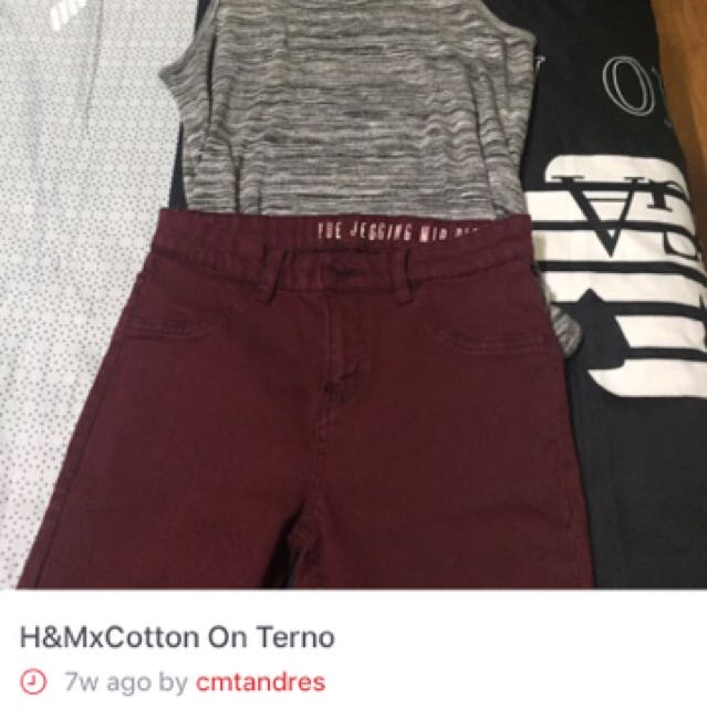 H&M COTTON ON TERNO
