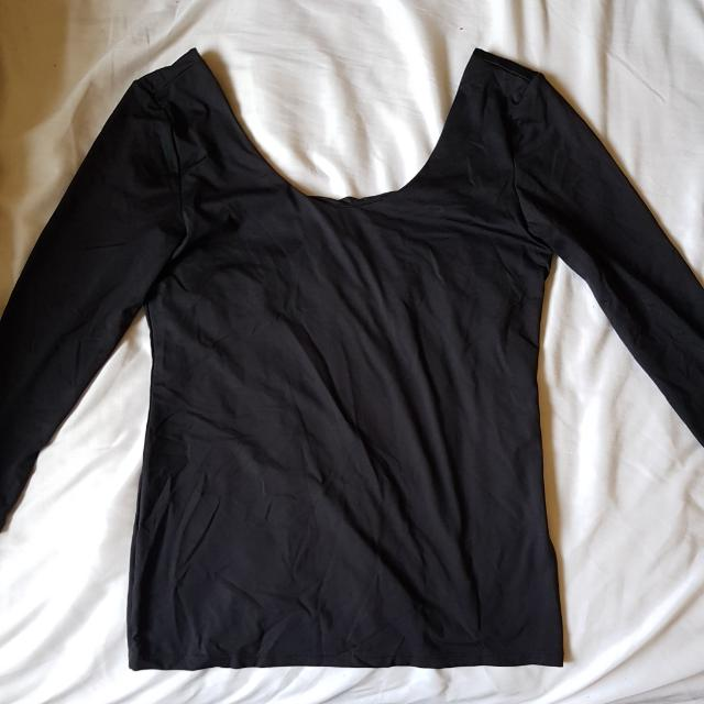 Hnm Navy Black Long Sleeve Top