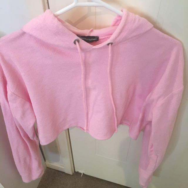Inside out cropped hoodie