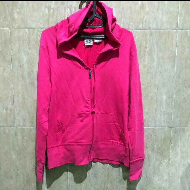 Jaket/sweater Kupluk Fushia