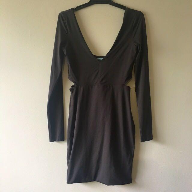 Kookai Charcoal Bodycon Dress