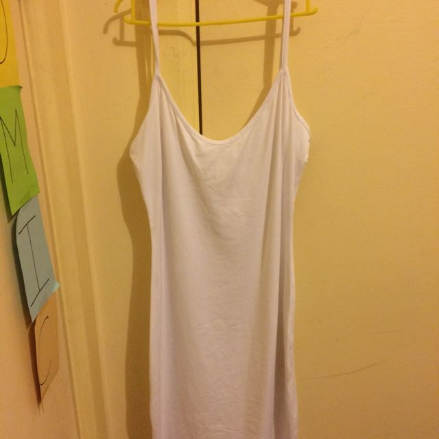 Kookai Spaghetti Strap Body Con Dress White