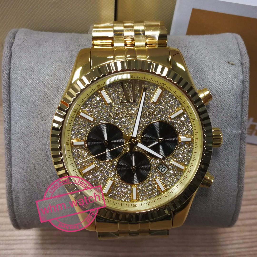 d71243f3f8f6 MICHAEL KORS (MK) #K8494 Lexington Gold-Tone Watch, Women's Fashion ...