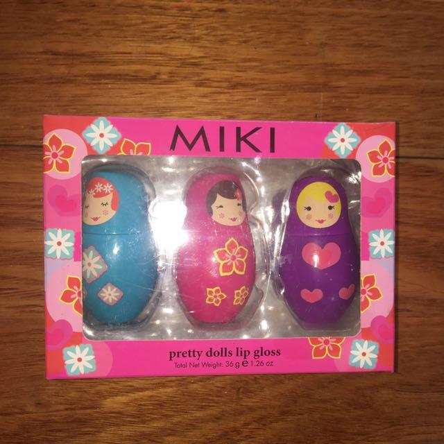 MIKI pretty dolls lip gloss