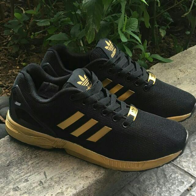 quality design 6e637 10b91 hot adidas zx flux black and gold malaysia bcda0 947c1