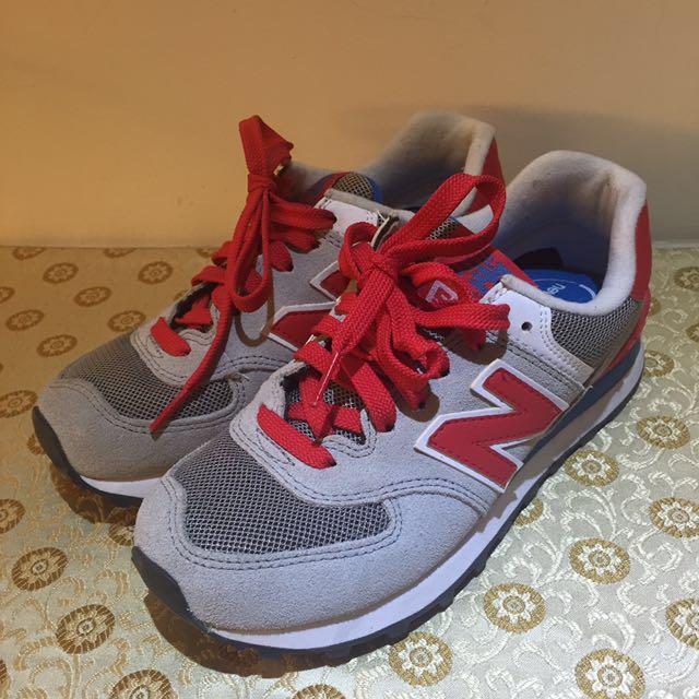 New Balance 574復古真皮球鞋
