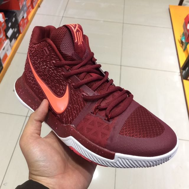 official photos 13928 caf16 NIKE KYRIE 3 MAROON, Sports, Other Sports Equipment on Carousell