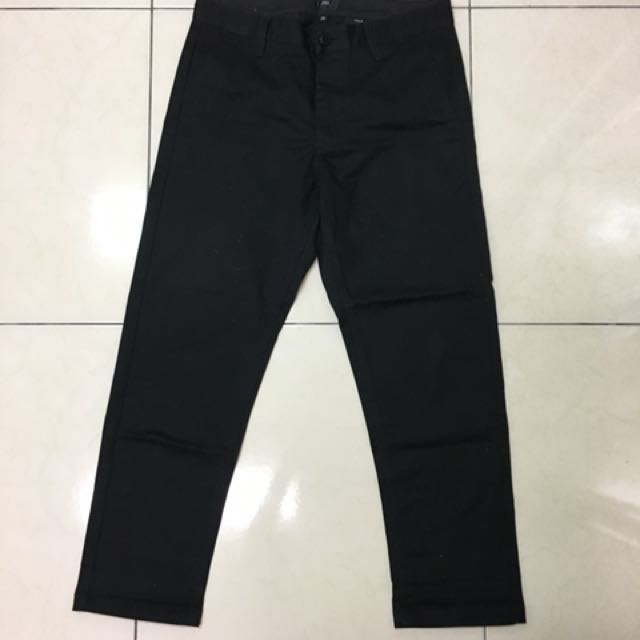 OBEY黑色滑板直筒褲