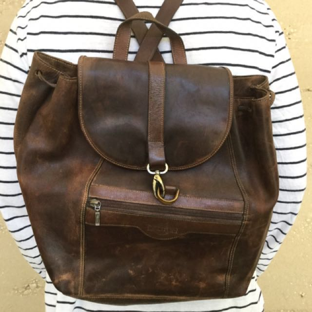 Oroton Leather Backpack