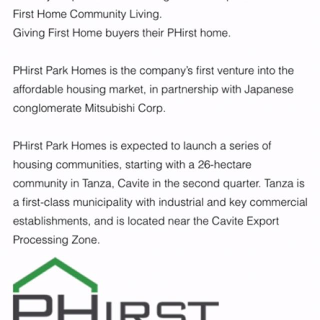 PHirst Park Homes