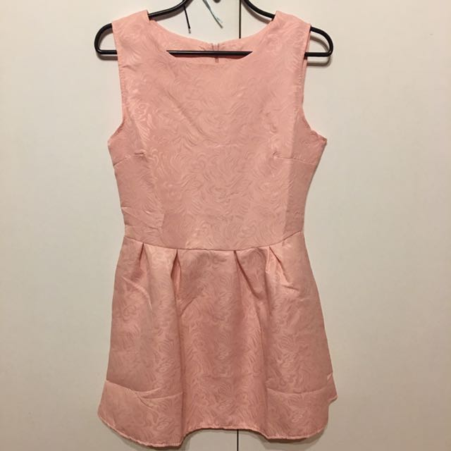 Pink smart casual dress