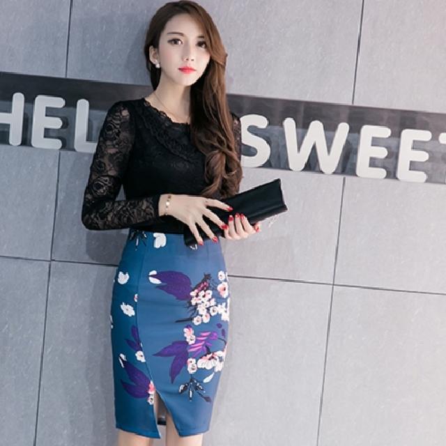 [PO] Ulzzang Preppy Pencil Skirt (2)