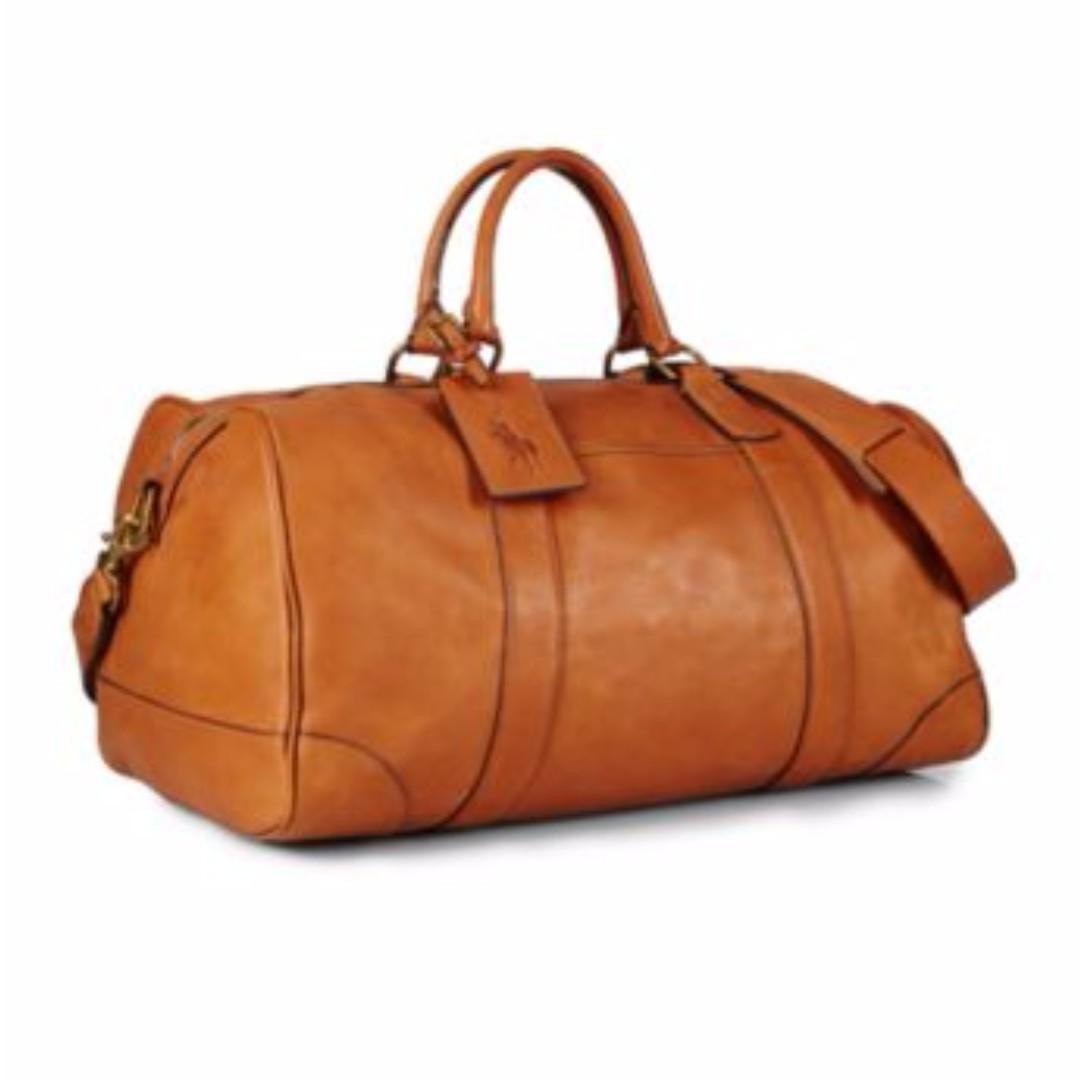 52fb180c78 Polo Ralph Lauren Leather Duffel Bag