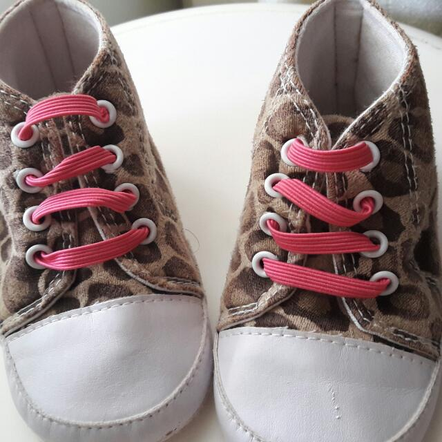 PRE-LOVED Baby Prewalker Shoes Leopard