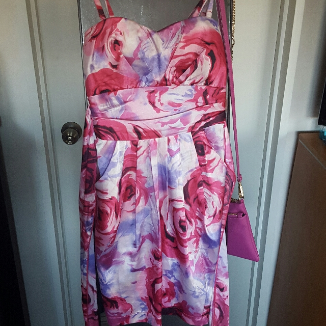 Pretty Rose Silk dress