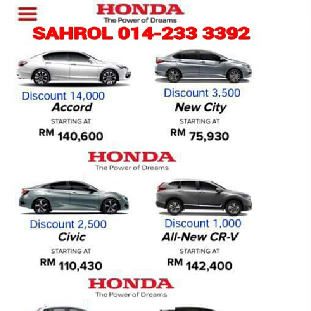 PROMOSI REBAT JUALAN BRAND NEW HONDA Cars For Sale On Carousell
