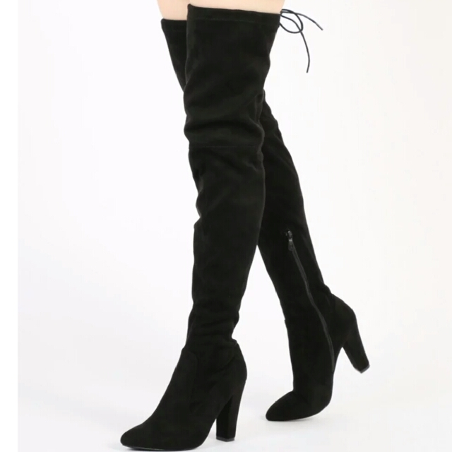 Public desire over the knee boots black size 5