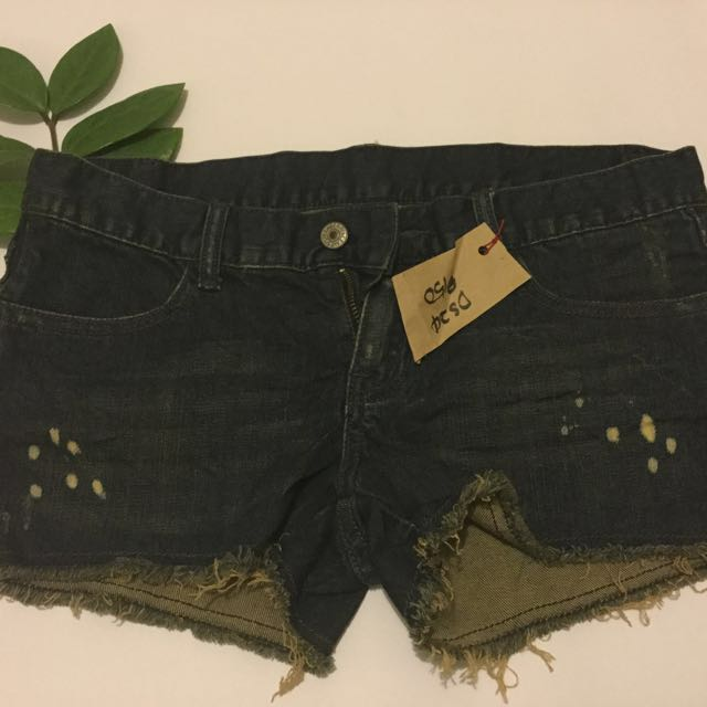 SALE 💋💋Denim Shorts With Distressed Hem