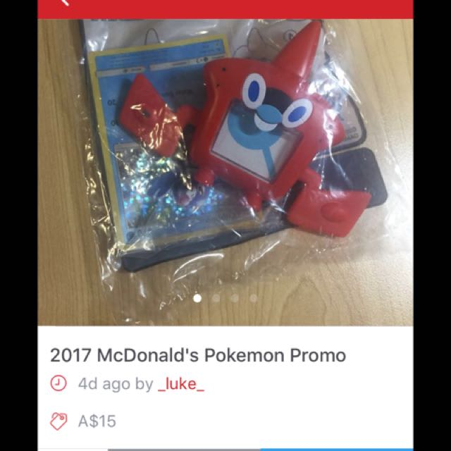Seller is selling FREE macca's toy for $15!!