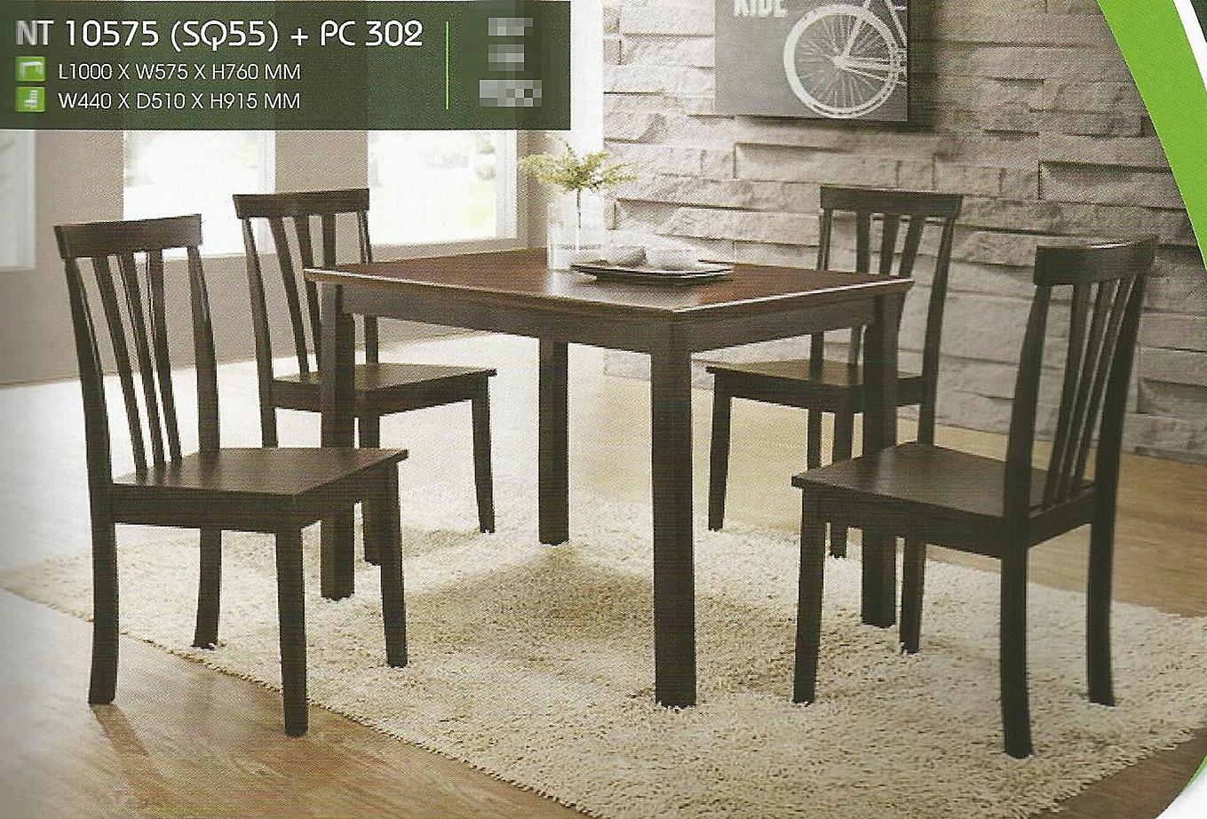 Set Murah Meja Makan 4 Kerusi Model Nt10575 Home Furniture On Carou
