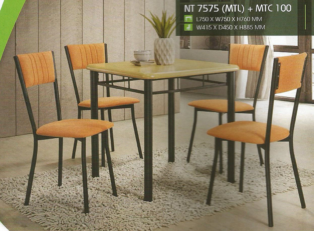 Set Murah Meja Makan 4 Kerusi Model Nt7575 Home Furniture On Carou