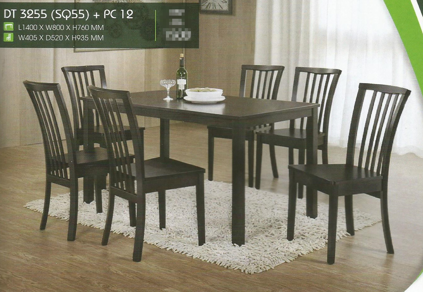 Set Murah Meja Makan 6 Kerusi Model Dt3255 Pc12 Home Furniture On Carou