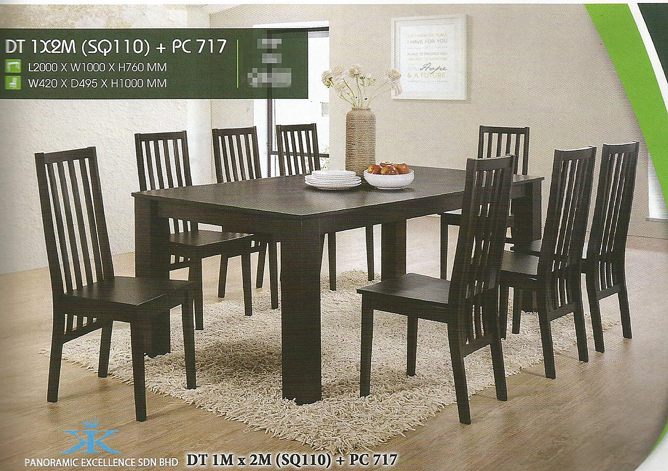 Set Murah Meja Makan 8 Kerusi Model Dt 1x2 Pc717 Home Furniture On Carou