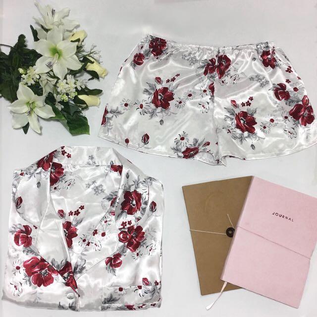Silk Two Piece Pyjama Set