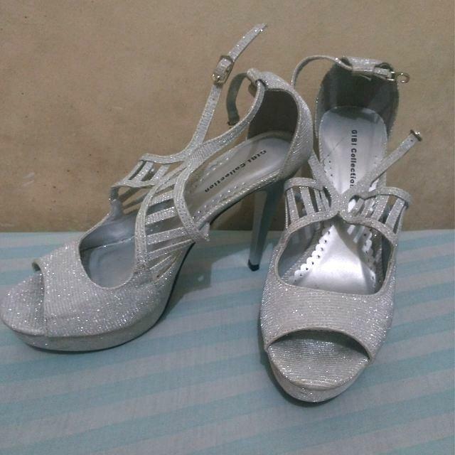 Silver Shimmery GIBI Stiletto