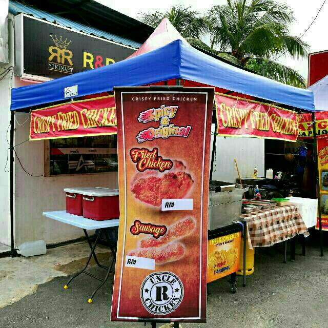 Stall Canopy Khemah Deep Fryer Ayam Gunting Etc Peralatan Dapur Di Carou