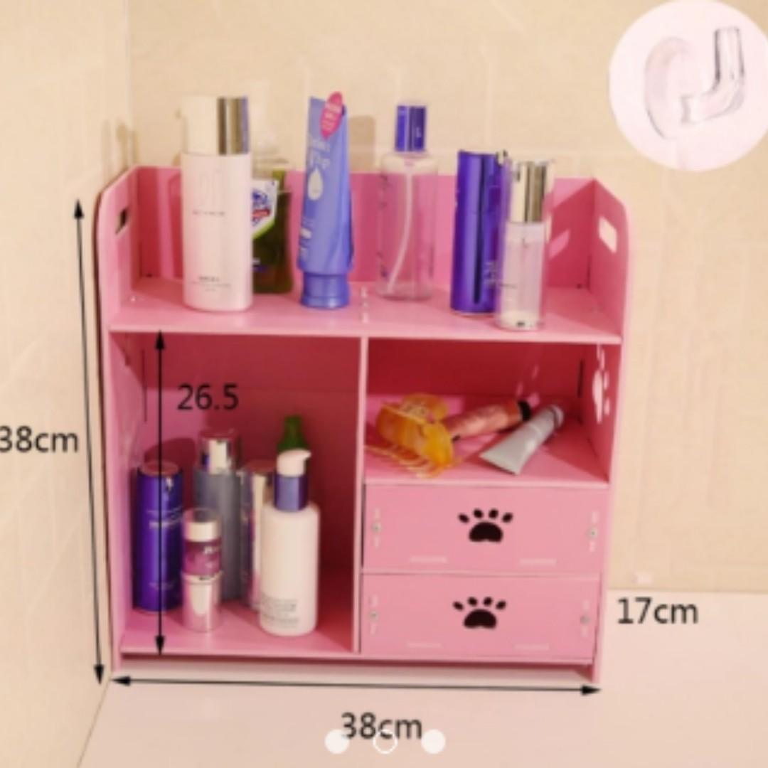 Storage Rack Drawer Pink