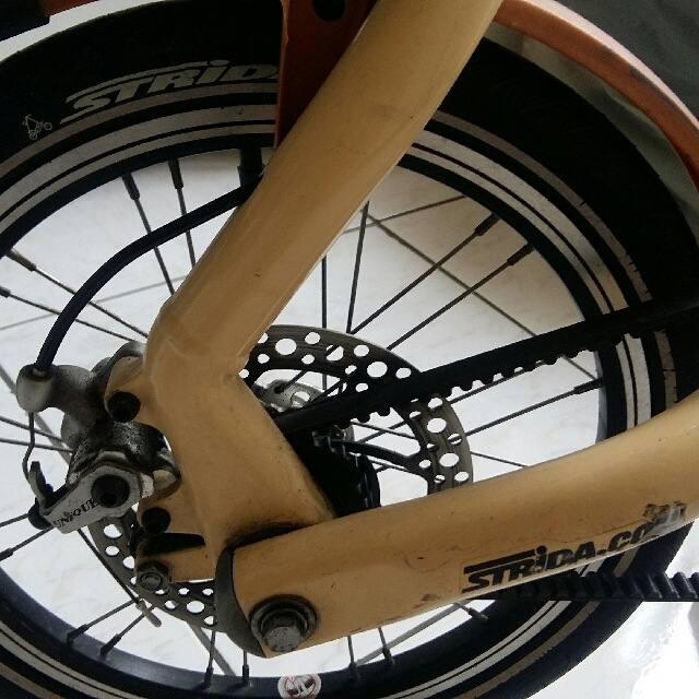 STRiDA速立達折疊自行車【奶油色】