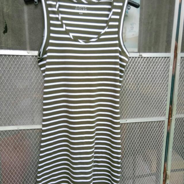 Repriced:::Stripe Cotton Dress