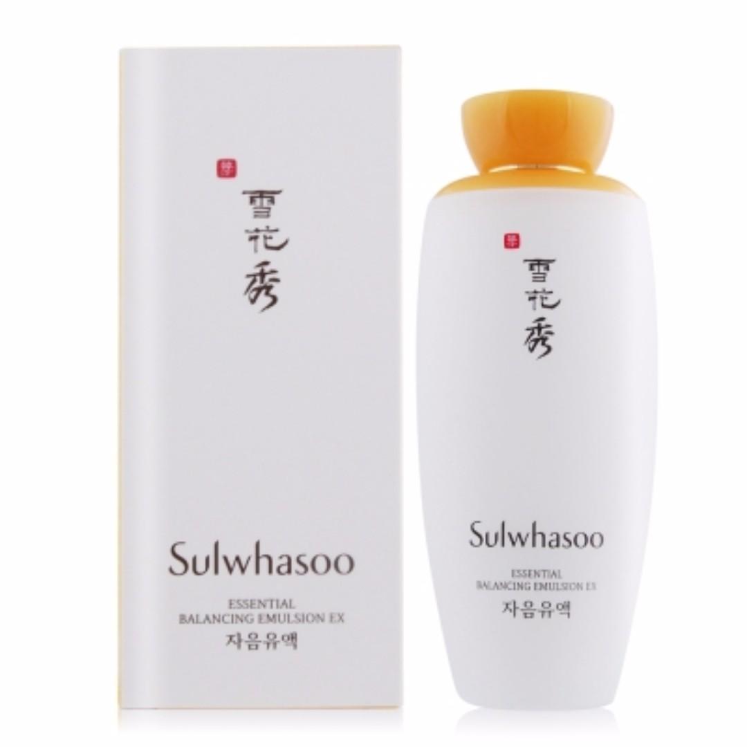 Sulwhasoo雪花秀 滋陰乳EX125ml(百貨公司貨)- 九成新