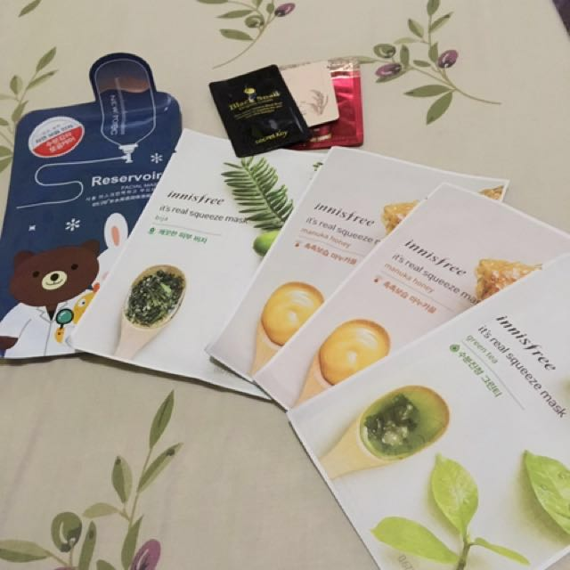 TAKE ALL ONLY 60K! Innisfree & Rorec sheet masks & free samples