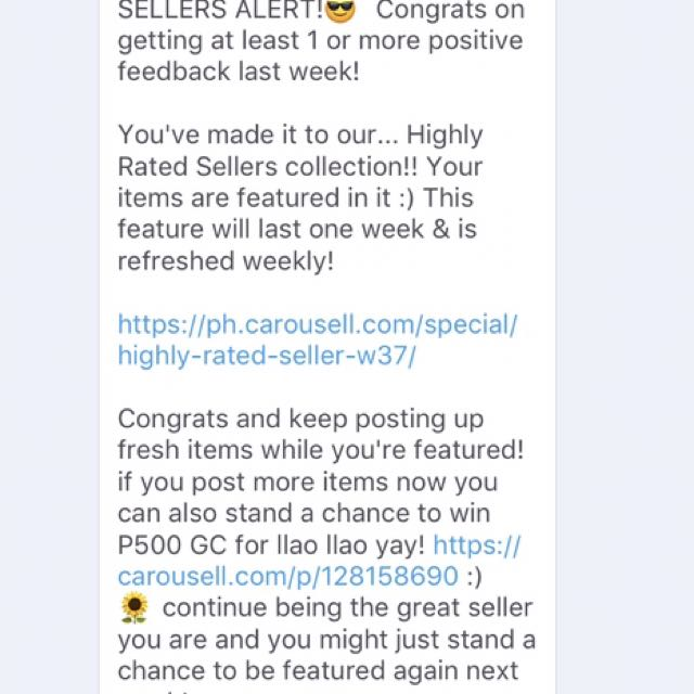 Thank you again Carousell and thank you to my buyer