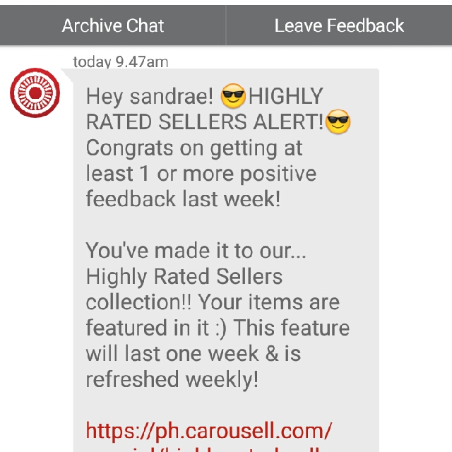 Thanks again, Carousell!!