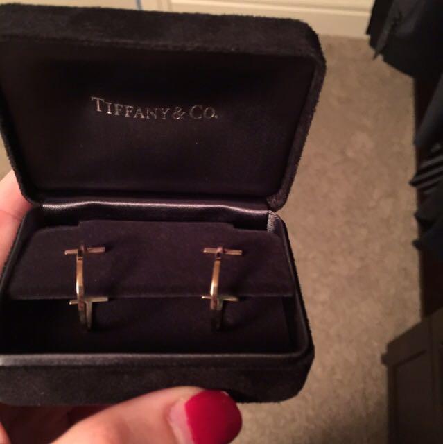 Tiffany & Co. 24k rose gold hoops
