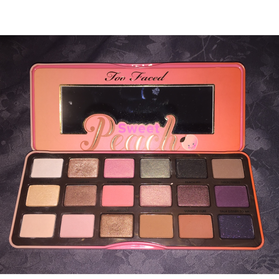 Too Faced Sweet Peach Eyeshadow Palette (Authentic - Purchased from Mecca)