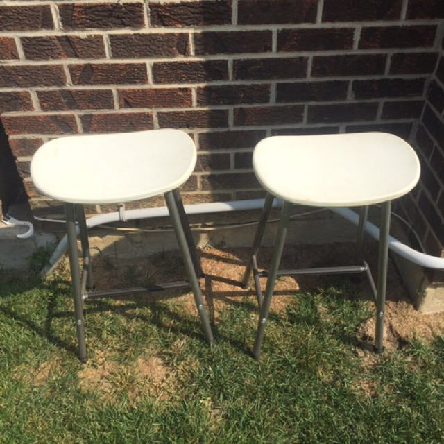 Two White Stools