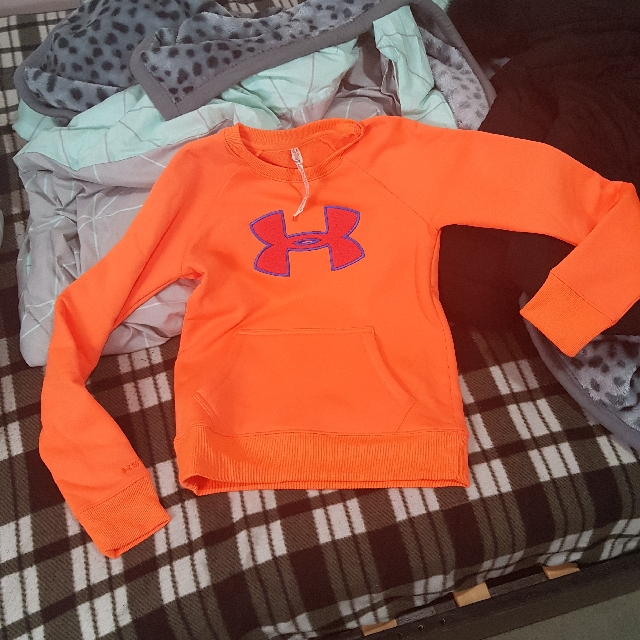 under armour jumper fluro orange xs