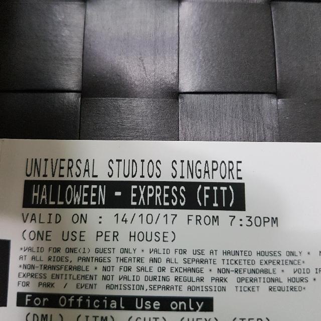 USS Halloween Horror Nights 7 Express Tickets, Tickets & Vouchers ...