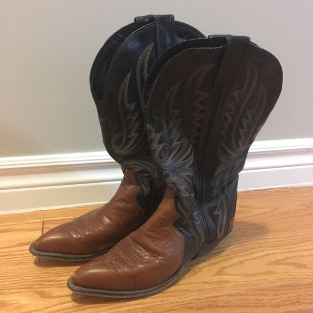 Vintage high quality leather Code West cowboy boots