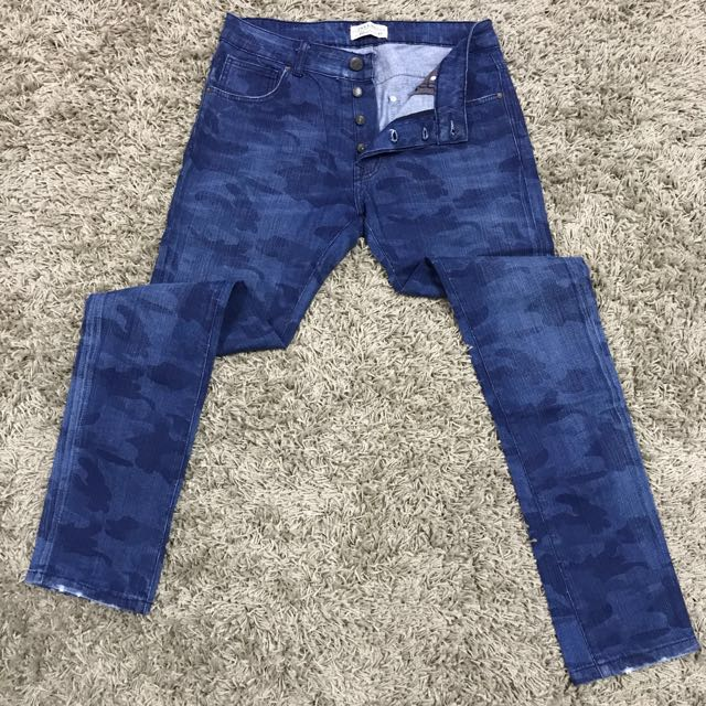 557a7d0f Zara Camo Jeans Skinny Fit, Men's Fashion, Clothes on Carousell