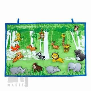 Wild animal-Fabric Wall Hang