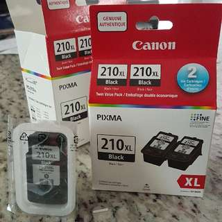 Canon Pixma printer black ink 2-pack 210XL